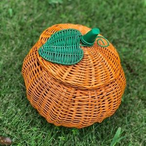Painted Wicker Pumpkin 🎃